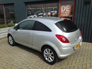 11. Opel corsa zilver blindering ramen