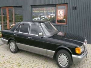 Mercedes E 350 blindering ramen