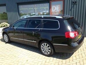 Volkswagen Passat zwart blindering ramen