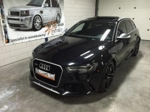 Audi RS6 lijsten zwart wrap decrome-2