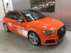 Audi S3 wrap Oranje Avery Gloss Orange-4