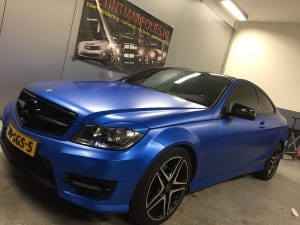 Mercedes C Coupe zijdeglans blauw 1080-S347 Satin Perfect Blue-4