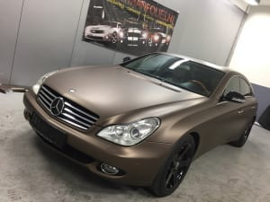 Mercedes CLS Wrap Mat Bruin 1080-M209 Matte Brown Metallic-3