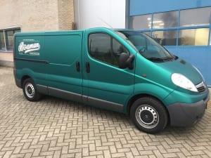 Opel Vivaro wrap autoreclame mat Groen-8